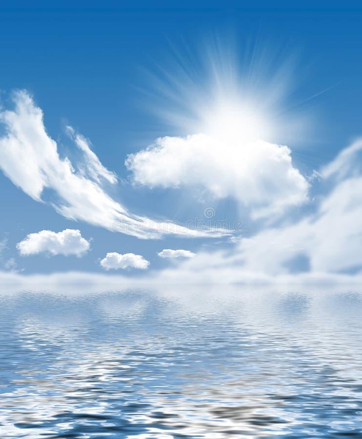 Фото облаков и солнца бесплатная иллюстрация