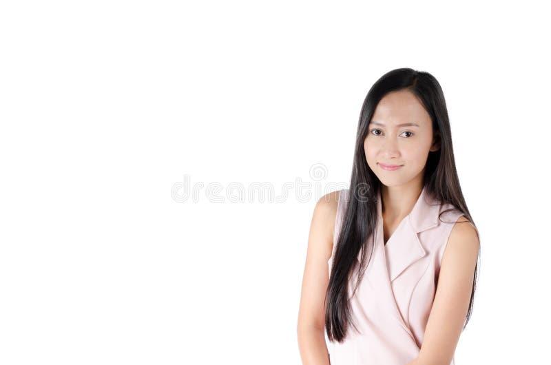 Фото портрета азиатской женщины со счастливой стороной выражения стоковое фото