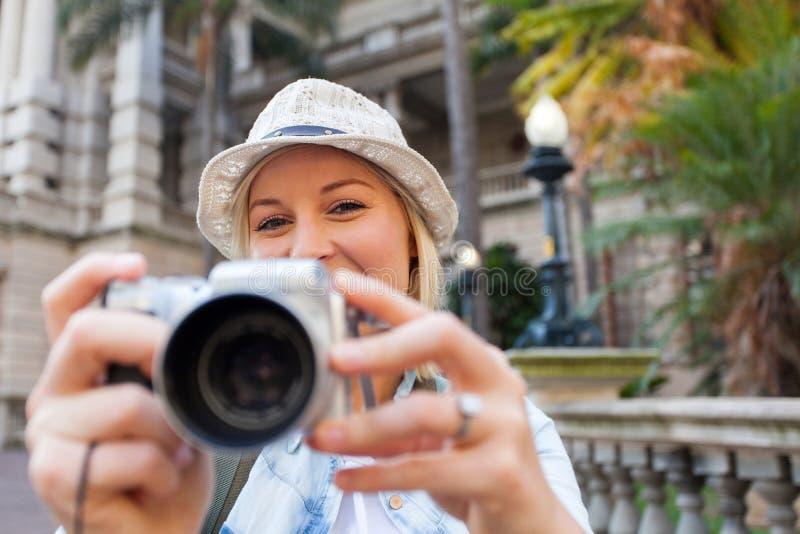 фото принимая туриста стоковое фото