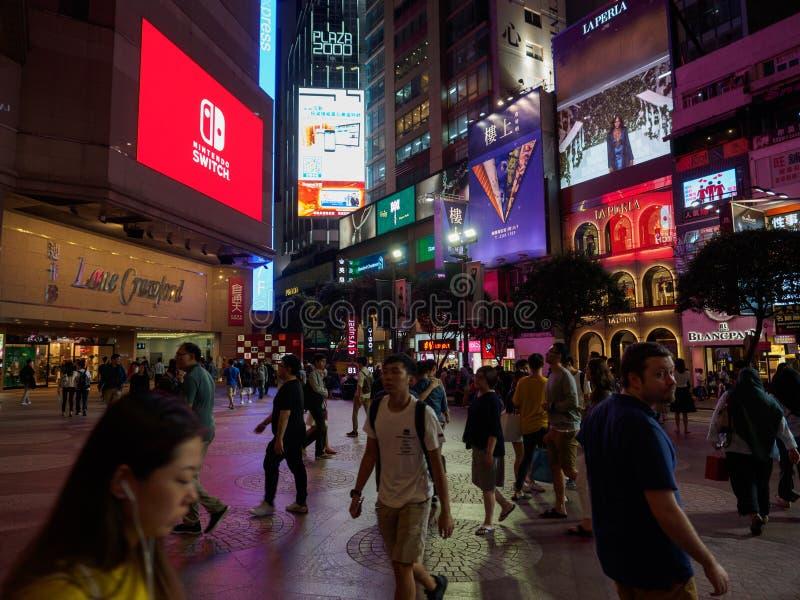 Фото принятое около торгового центра Таймс-сквер около улицы Гонконга Russel стоковое фото rf