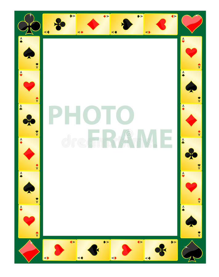 фото рамки играя в азартные игры иллюстрация штока