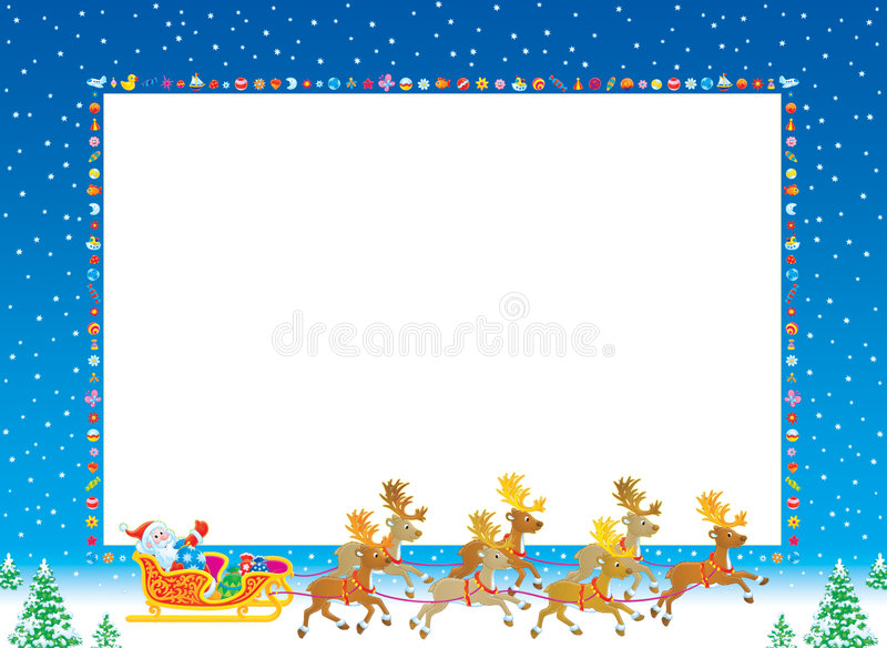 фото рамки рождества иллюстрация штока