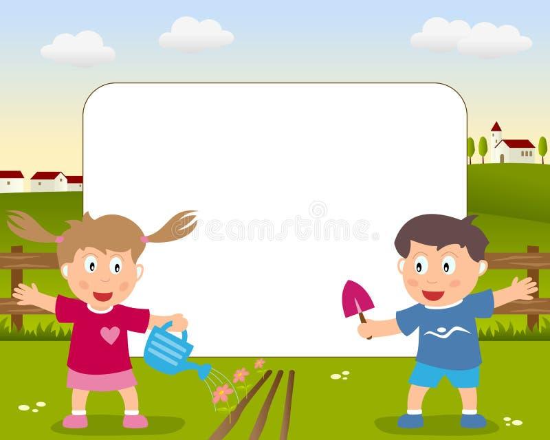 фото рамки садовничая иллюстрация вектора