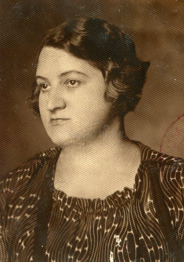 Фото сбора винограда женщины стоковое фото