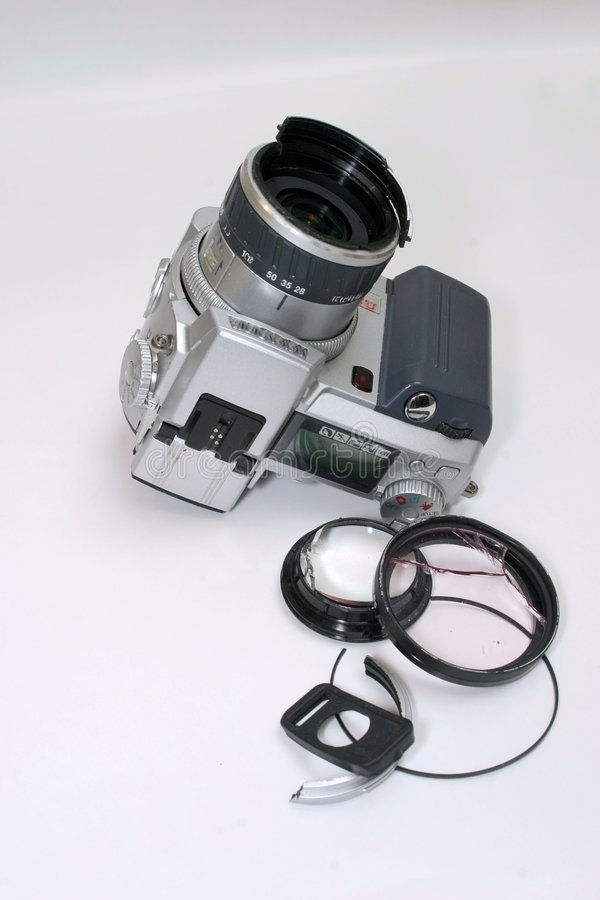 фото сломленной камеры цифровое стоковое фото rf