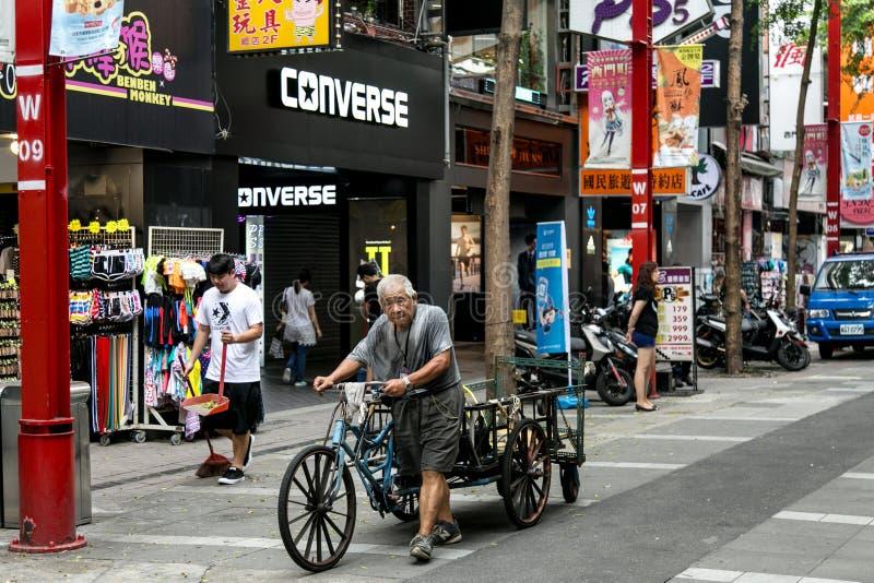 Фото улицы Тайбэя стоковые изображения