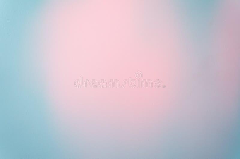 Фото фокуса голубой пастельной картины текстуры бумаги предпосылки мягкое с розовой пастелью в середине, предпосылкой абстрактног стоковая фотография rf
