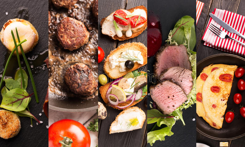 Фото формы коллажа естественной еды стоковое фото