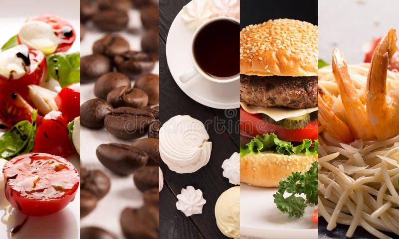 Фото формы коллажа естественной еды стоковые изображения