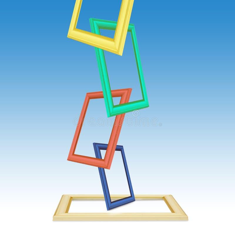 Фото цвета обрамляет абстрактную предпосылку иллюстрация штока