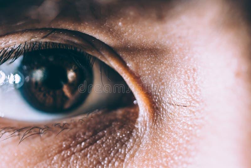 Фото человеческого глаза стоковые изображения