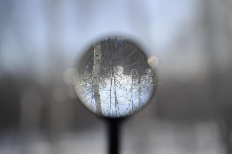Эффект на фото через лупу