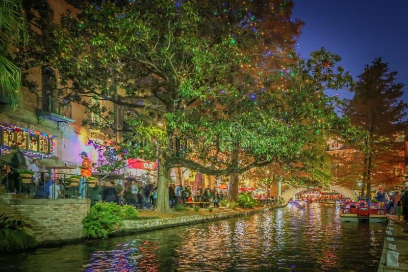 Фото HDR Riverwalk в Сан Антонио стоковое изображение rf