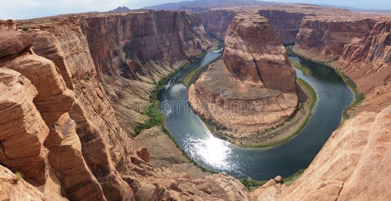 Фото Panoramatic загиба подковы Колорадо, Аризоны, США стоковое изображение