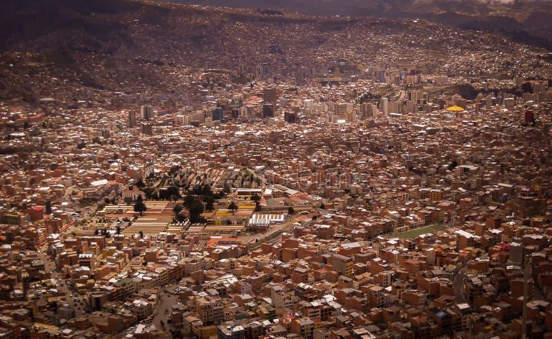 Фото Paz Боливии Ла городское исторической столицы стоковые фото