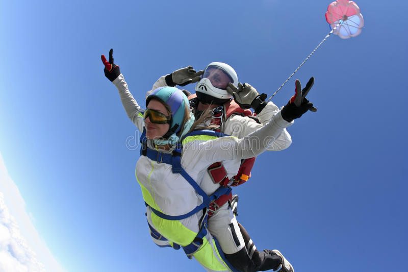 Фото Skydiving. Тандемно. стоковая фотография rf