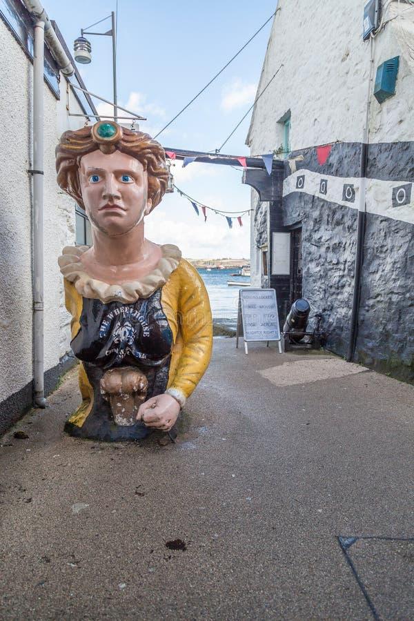 Фолмут в Корнуолле Англии Великобритании стоковые фотографии rf