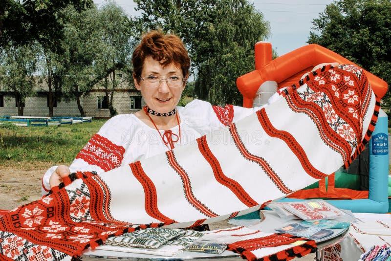 Фольклорные ритуалы производят улучшения в зоне Gomel Республики Беларусь в 2015 стоковые изображения rf