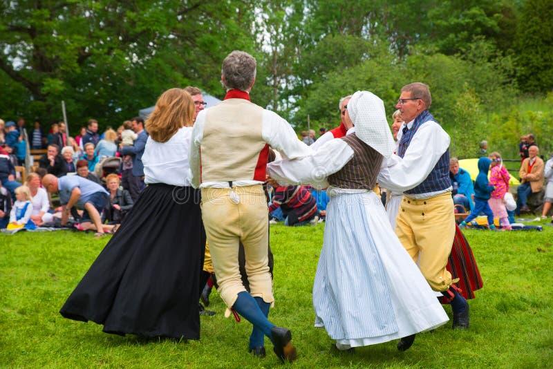 фольклор Швеция ансамбля стоковое фото rf