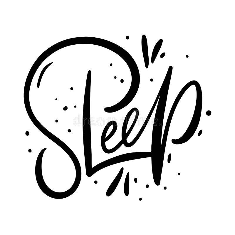 Фраза сна Нарисованная рукой литерность вектора белизна изолированная предпосылкой иллюстрация вектора