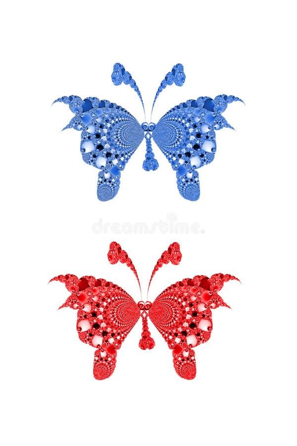 фракталь бабочек стоковая фотография