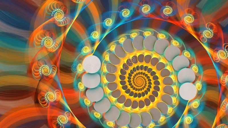 фракталь галактическая иллюстрация штока