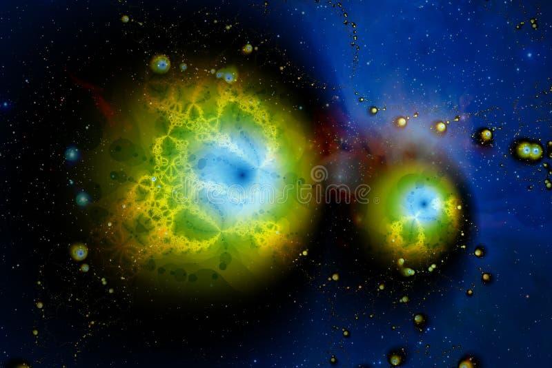 Фракталь: Глаза в небе бесплатная иллюстрация