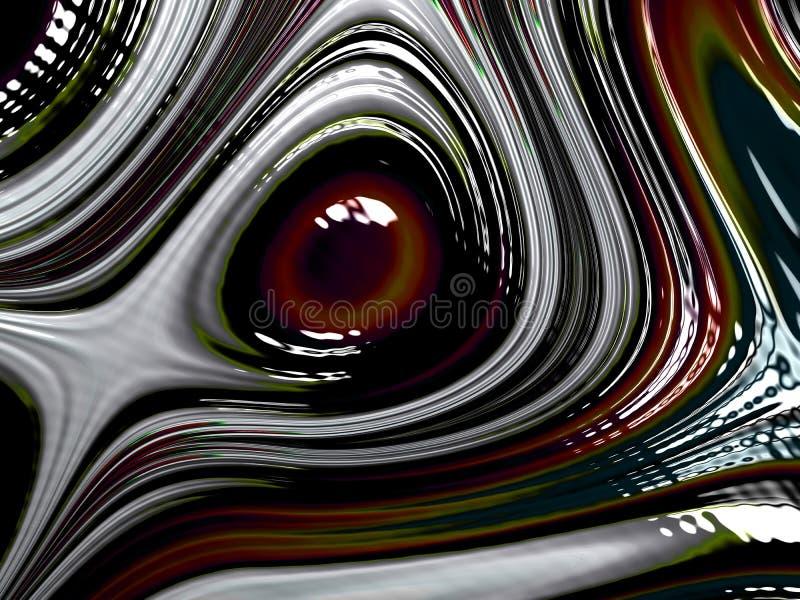 Фракталь глаза цифров иллюстрация вектора