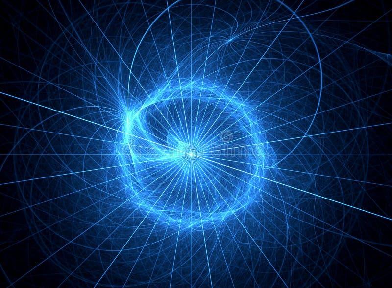 фракталь голубого глаза искусства иллюстрация вектора