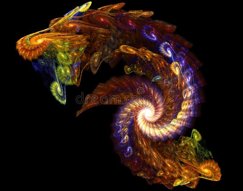 фракталь дракона иллюстрация вектора