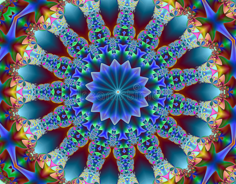 фракталь психоделическая бесплатная иллюстрация
