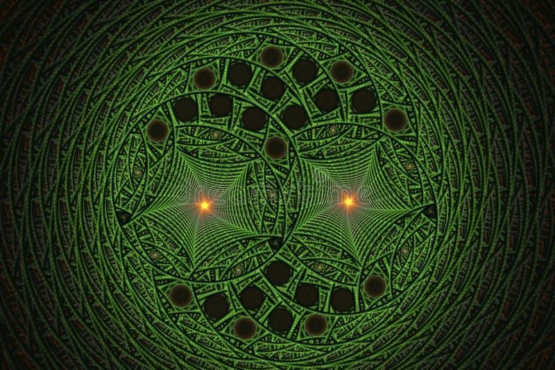 Фракталь с спиралями и кольцами бесплатная иллюстрация