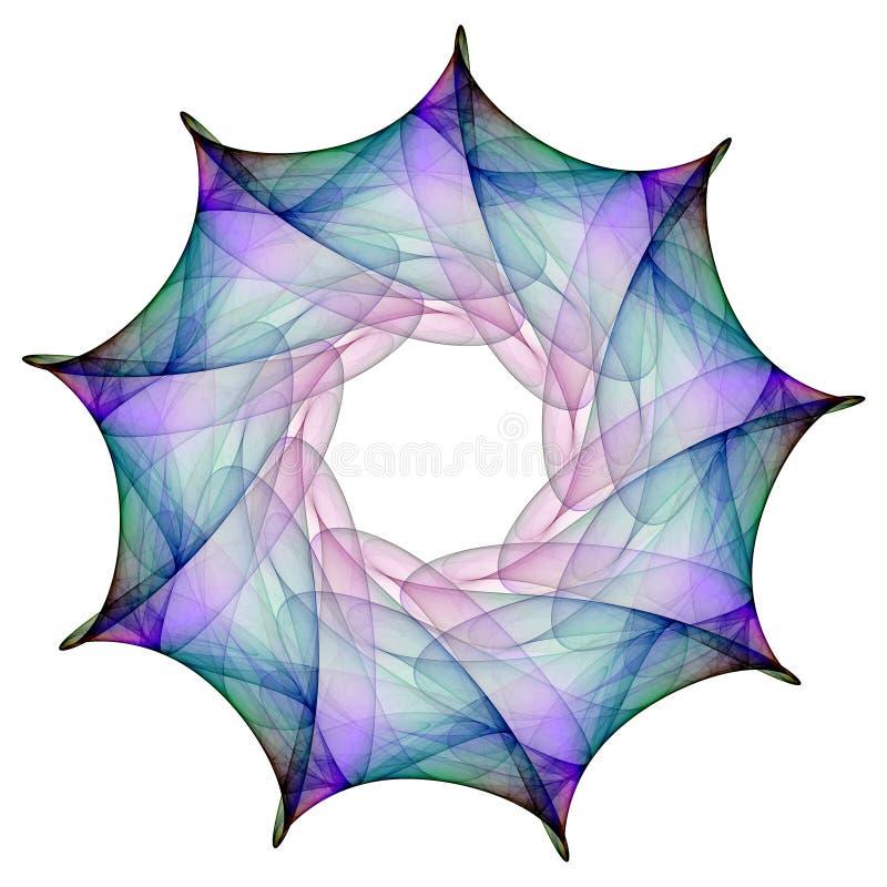 фракталь цветка иллюстрация штока