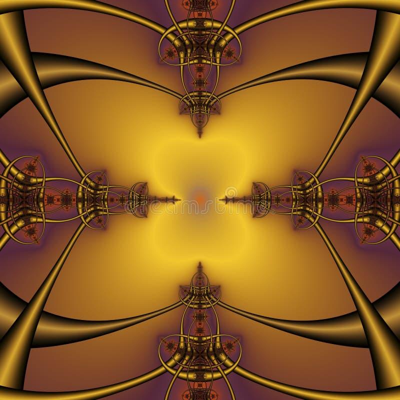 Фракталь иллюстрация вектора