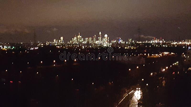 Франкфурт вечером стоковое изображение rf