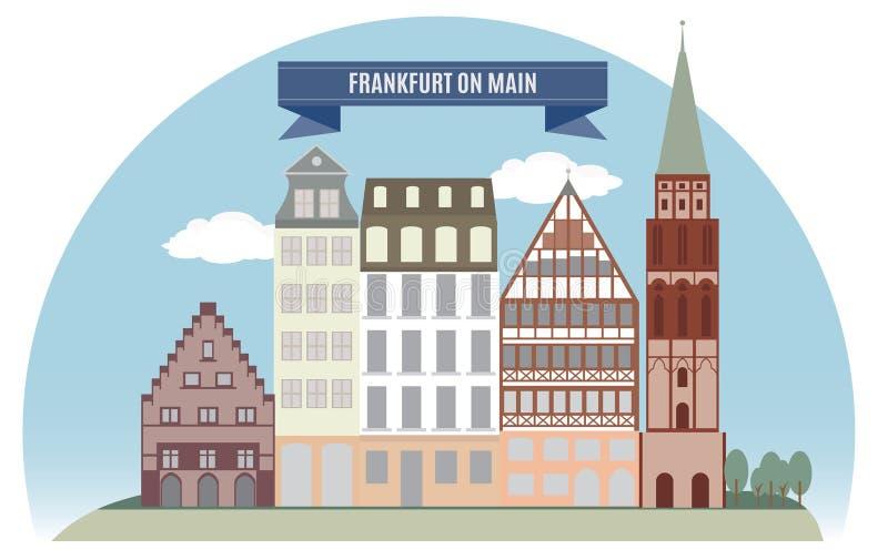 Франкфурт, Германия иллюстрация штока