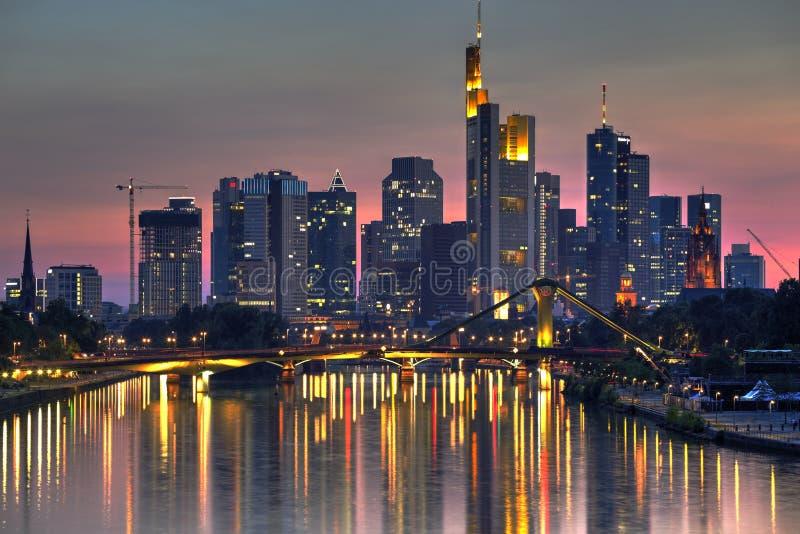 Франкфурт и главным образом, Германия стоковое изображение rf