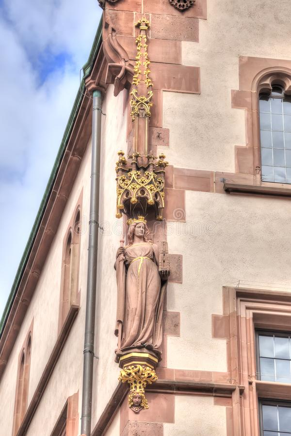 Франкфурт-на-Майне разбивочное историческое Украшение faca стоковая фотография rf