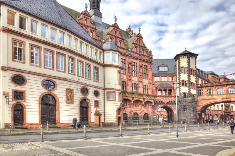 Франкфурт-на-Майне разбивочное историческое стоковые фото