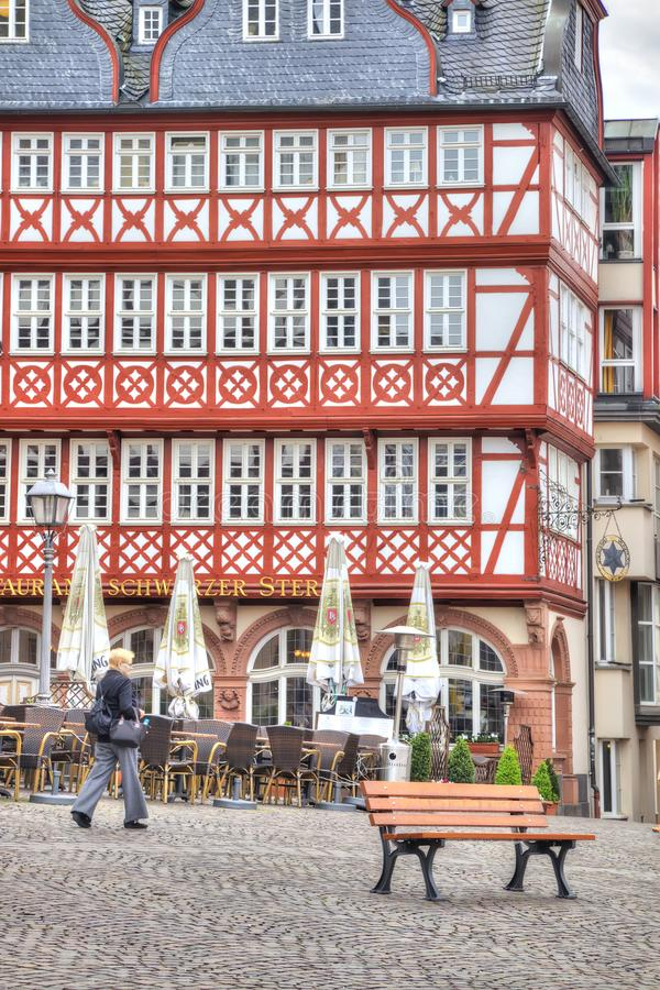 Франкфурт-на-Майне разбивочное историческое стоковые фотографии rf