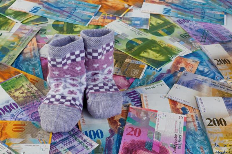 франк детей замечает носки швейцарские стоковое изображение rf