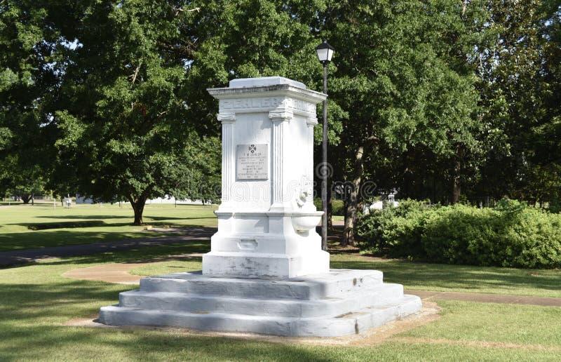 Франк m Памятник Zehler на Highland Park, меридиане, Миссиссипи стоковая фотография