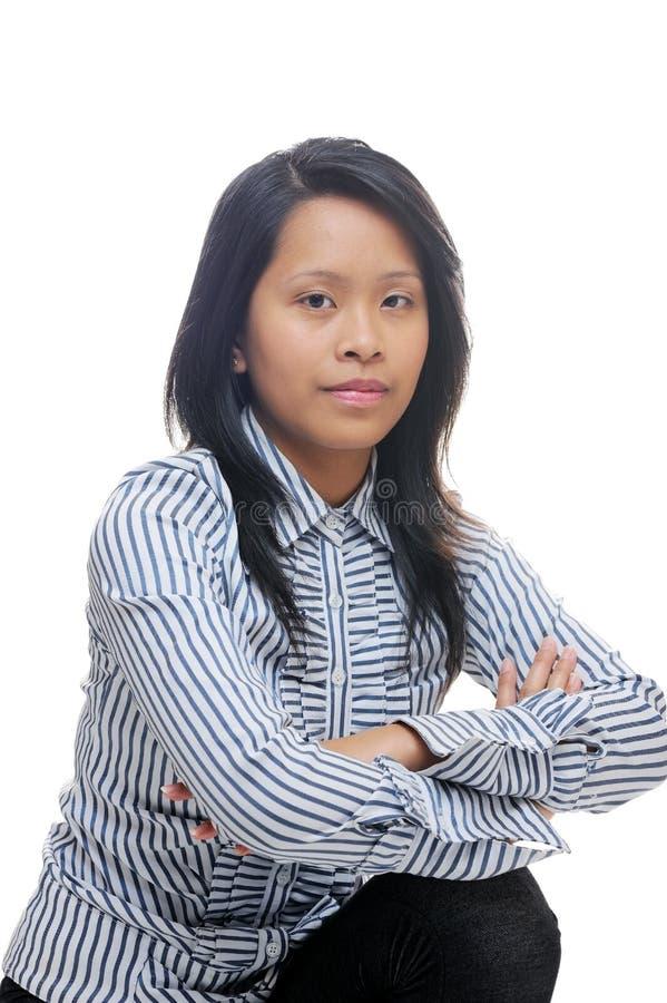 Франтовская азиатская повелительница стоковая фотография rf