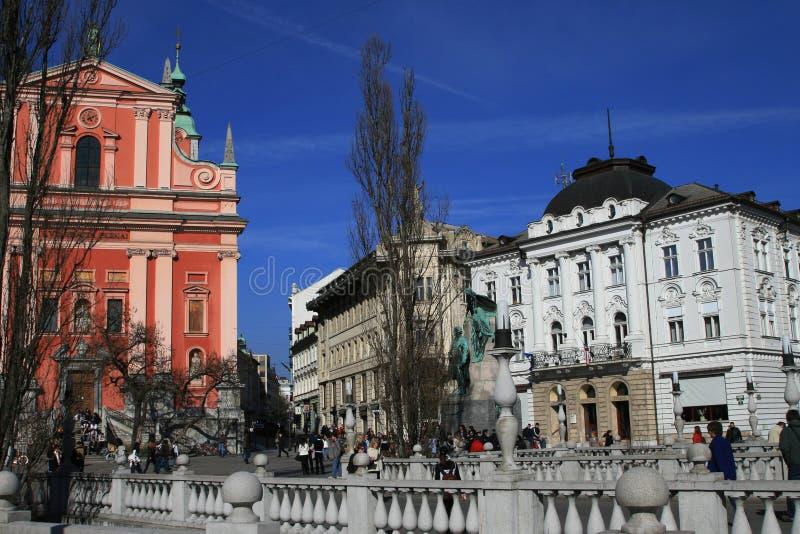 францисканец ljubljana церков стоковая фотография rf