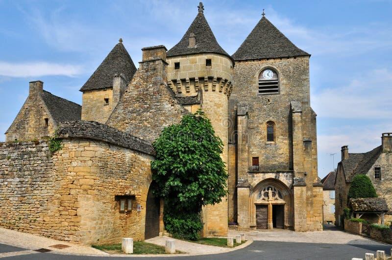 Франция, живописная деревня джинн Святого в Дордоне стоковые изображения rf