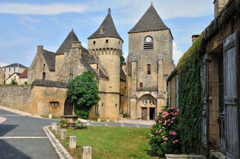Франция, живописная деревня джинн Святого в Дордоне стоковая фотография rf