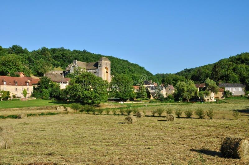Франция, живописная деревня Святого Amand de Coly стоковая фотография rf