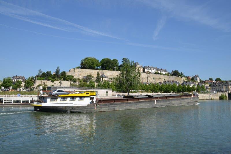 Франция, живописный город Pontoise в Val d Уазе стоковое фото rf