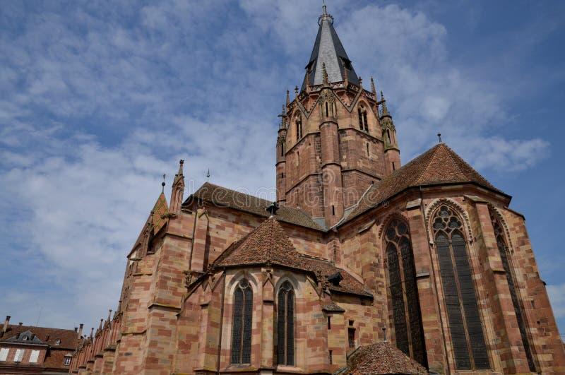 Франция, живописный город Wissembourg в Bas Rhin стоковые изображения rf