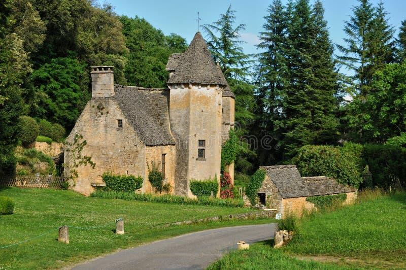 Франция, живописный замок Cipières в Святом Crepin стоковые изображения rf